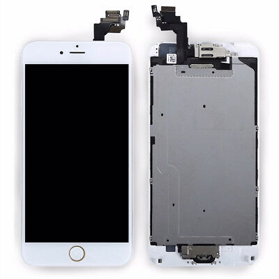 For iPhone 6 Plus White LCD Screen Replacement+ Button+ Camera A1522、A1524、A1593