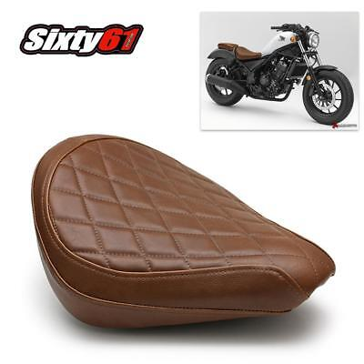 Honda Rebel 300 500 Seat Cover 2017 2018 Vintage Brown Front Luimoto