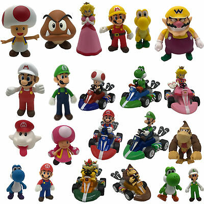 New Super Mario Bros. Collectible PVC Plastic Action Figure Doll Kart Car Toy