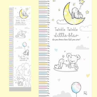 Hugs & Kisses Baby Height Chart - Measures From 50cm to 130cm