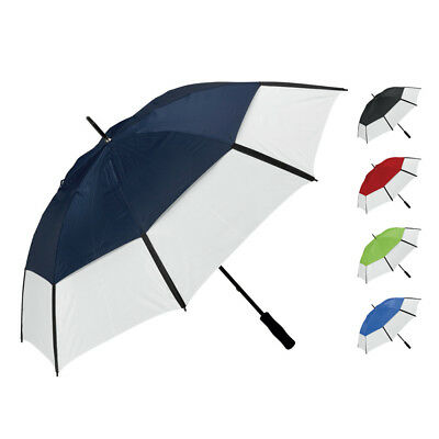 "Large Manual 60"" Golf Umbrellas Unisex Vented Windproof Brolly Sports Hiking UK"