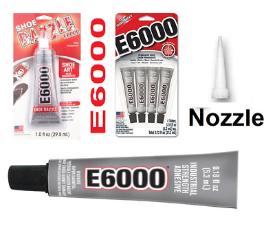 E6000 Glue Clear 5.3 ML, Jewelry & Beads, Shoe Dazzle, Nozzle Tips, 4 X 5.3 ML
