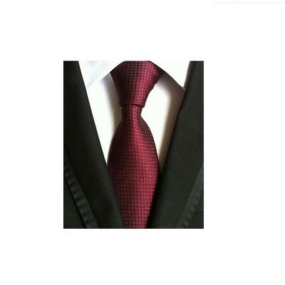 New Red Pattern Men's Silk Tie UK Seller Shirt Suit Father Son Gift Necktie