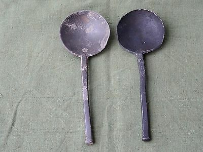 2x Pewter Spoon 17th century with makersmark
