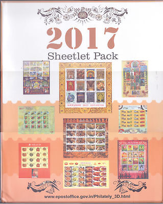 India 2017 Year Pack Complete Commemorative Sheetlets ( 12 Scans)