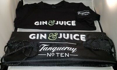 Tanqueray No Ten Gin & Juice T-Shirt Size S Small And Drawstring Backpack Bag 10