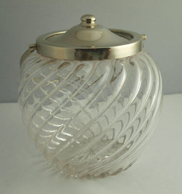 Handsome Antique Silver Plated Biscuit Barrel