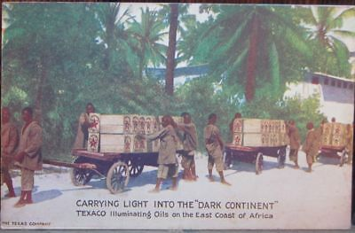 CARRYING LIGHT INTO THE DARK CONTINENT TEXACO illuminating oils coast of Africa