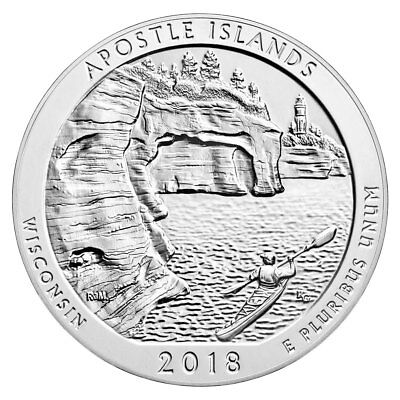 2018 Apostle Islands 5 oz. Silver ATB Beautiful Coin GEM BU PRESALE SKU49845