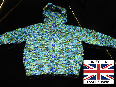 NEW HOODED CARDIGAN 3-6 Months Boys MIXED BLUE D.K FREE DELIVERY 🇬🇧
