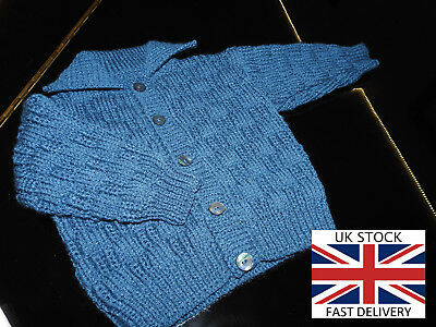 NEW COLLARED CARDIGAN 12 Months Boys DARK BLUE D.K FREE DELIVERY 🇬🇧