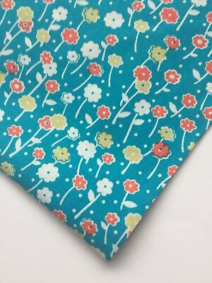 1ccb6162bc86 Keepsake Calico Jo-Ann Fabric Preowned Cotton Turquoise Floral Fat Quarter