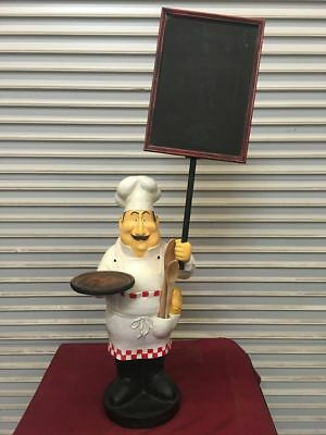 "48"" Chef Menu Stand Sign Statue #5525 Restaurant Specials Display Decor"