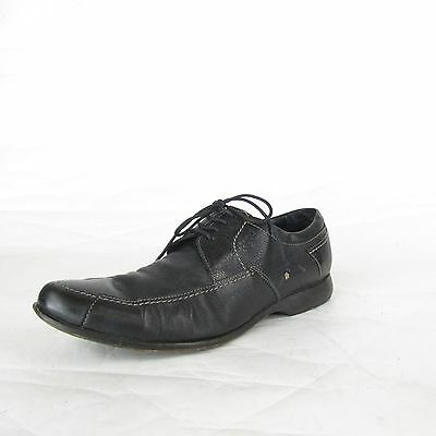 943aa561721f ECCO Black Mens Dress Shoes 9 9.5 Size EU 43 Leather Lace up Leather Soles