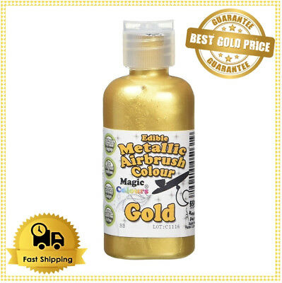 Magic Colours Metallic Edible Airbrush Gold Paint for Cake