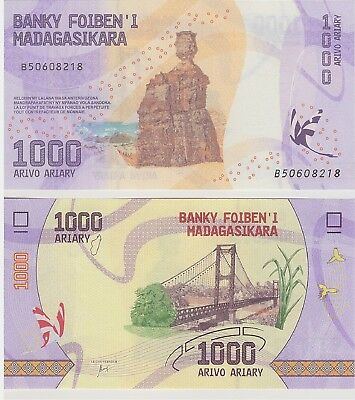 Madagascar,  1000  Ariary,  Nd 2017,  P-New,  New Design,  Unc