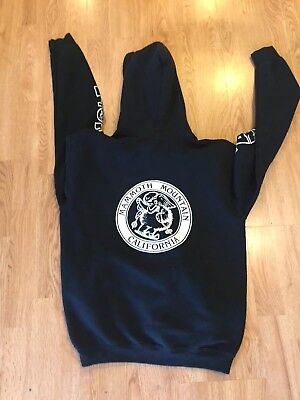 Vintage Black Mammoth Mountain Retro Black Hoodie Sweater Size Xl Youth