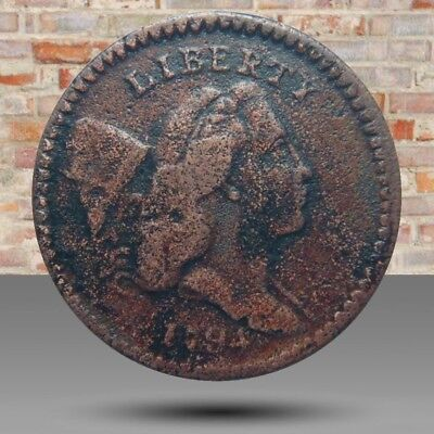 Half cent/penny 1794 Cohen-9, rarity-2, later die state