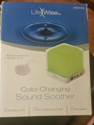 LifeWise Color-Changing Sound Soother With PILLOW SPEAKER NIP