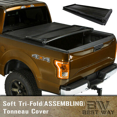 2007-2015 Toyota Tundra 5.5ft Extra Short Bed Soft Tri-Fold Tonneau Cover