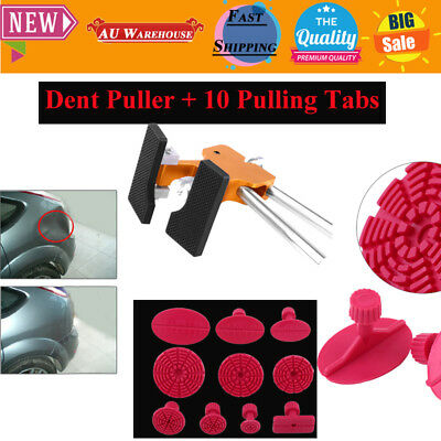 Auto Car Body Dent Remover Repair Puller Kit Tools With 10 Tabs Dent Puller Hot