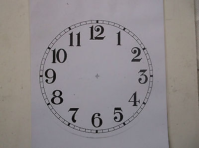 """Round Paper Laminated Clock Dial-6 1/4""""  Gloss White-Face"""