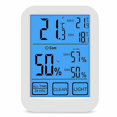 Digital Hygrometer Thermometer Indoor Outdoor Temperature & Humidity Monitor