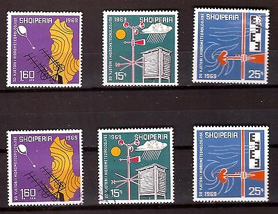 ALBANIA Instruments of meteorology series Sc#1208-1210 in nine and old. PR595