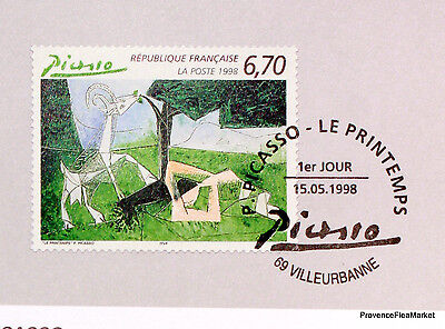 Yt 3162 PICASSO FRANCE FDC NOTICE PHILATELIC PREMIER DAY