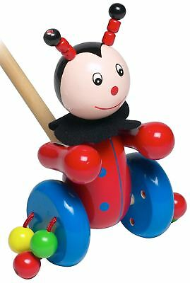 Orange Tree Toys Push Along Wooden Toy - Ladybird