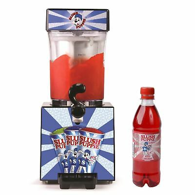 Slush Puppie Machine Frozen Ice Slushie Drink Maker Home Slushy Puppy Red Syrup