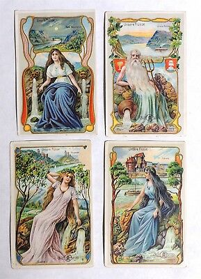 ESZ3379 Vintage: AECHT FRANK RIVERS Coffee Grinder Victorian Trade Cards 1910s [