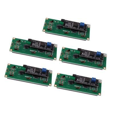 New IIC I2C TWI 1602 16x2 Serial LCD Module Display for Arduino, Pack of 5