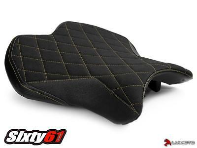 Yamaha R6 Seat Cover 2017 2018 Black Yellow Suede Tec-Grip Front Rider Luimoto