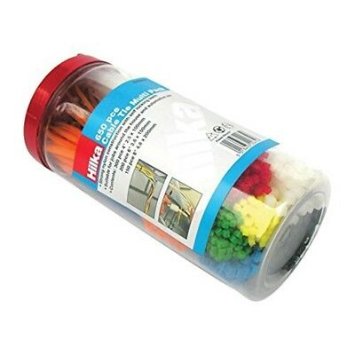 Hilka 79300650 Cable Tie Multi-pack - Multi-colour (650-piece) - Multipack