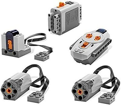 LEGO 5 piece Power Functions Motor Battery IR Remote Receiver Set (BRAND NEW)