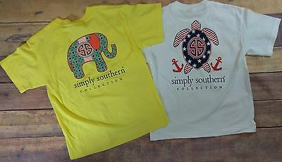 Youth Sz Large Simply Southern Elephant & Turtle T-Shirts (Old Designs)- READ AD