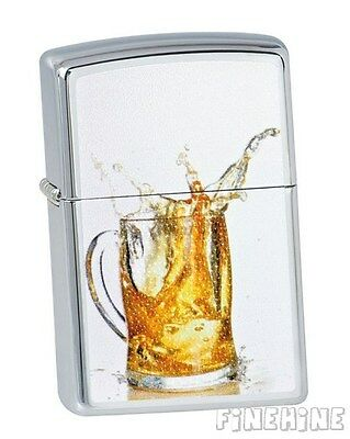 PROST! Wet Look Chrome ZIPPO neu+ovp BEER