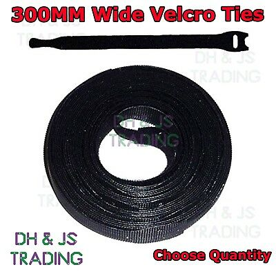 300mm Velcro Cable Ties One Wrap Reusable Cable Tie Wrap Double Sided Strapping