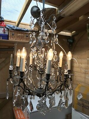 Large Crystal Chandelier 6 Lights