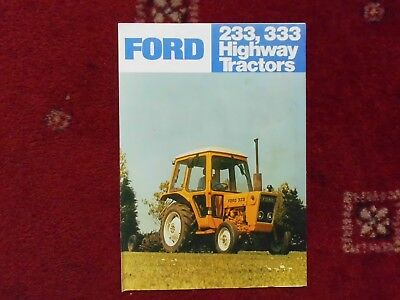 Ford  233 /  333  Tractor  Brochure 1978