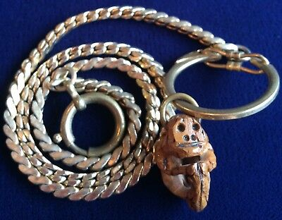 Strange Monkey Carved From Nut Wallet/Watch/Key Fob Chain
