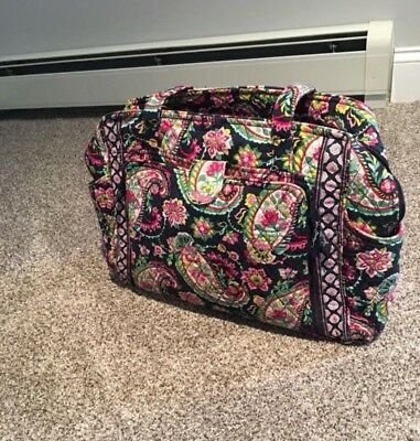 VERA BRADLEY stroll around baby diaper bag tote large floral
