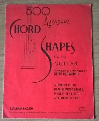 Keith Papworth 500 Advanced Chord Shapes For Guitar Vintage Book
