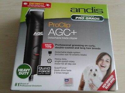 Andis ProClip AGC+ Detachable Blade Clipper Heavy Duty #10 Ceramic Blade New!
