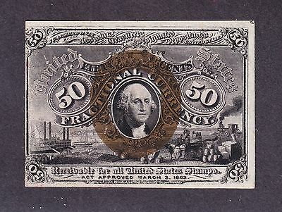 US 50c Fractional Currency Note 2nd Issue Fiber Paper FR 1322 CU