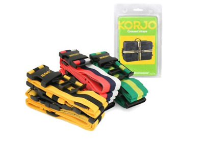 New Korjo Crossed Luggage Straps Extra Security Linked Holder Portable Care