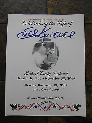 "Evel Knievel 2007 ""original"" Funeral Program From Butte, Mt Service-Rare!!"