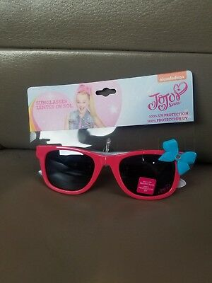 NEW JoJo Siwa Kids Sunglasses For Girls UV Protection Pink With Blue Bow