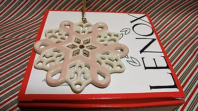 "Lenox ""gift Of Knowledge Snowflake"" Ornament---New In Box"